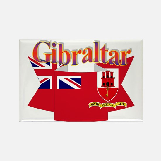 Gibraltar flag ribbon Rectangle Magnet