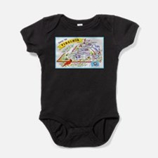 Virginia Map Greetings Infant Bodysuit Body Suit