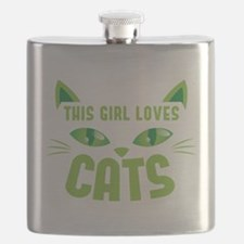 This girl loves CATS Flask