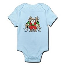 Christmas Santa Claus with Reindeer Body Suit