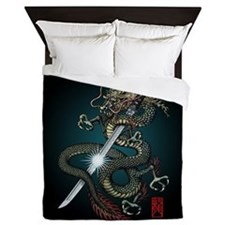 Dragon Katana01 Queen Duvet