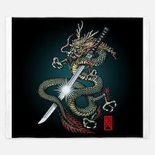 Dragon Katana01 King Duvet