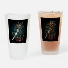 Dragon Katana01 Drinking Glass