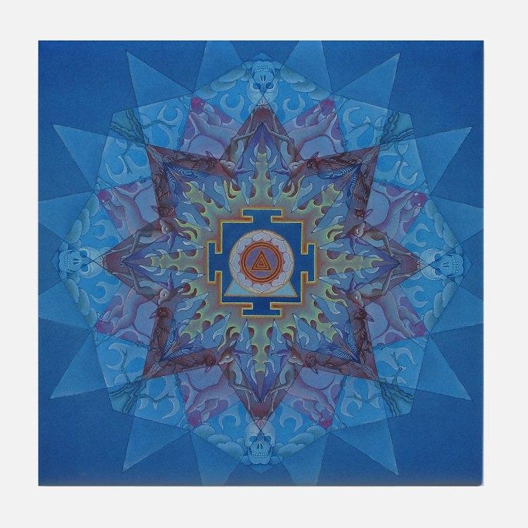 Kali Yantra-Mandala Tile Coaster