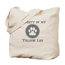 Property Of My Yellow Lab Tote Bag
