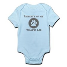 Property Of My Yellow Lab Body Suit