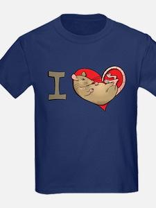 I heart rats (tan) T