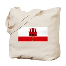 Gibraltar flag Tote Bag