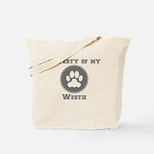 Property Of My Westie Tote Bag