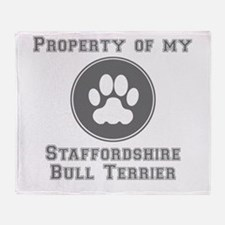 Property Of My Staffordshire Bull Terrier Throw Bl