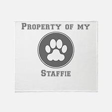 Property Of My Staffie Throw Blanket