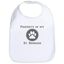 Property Of My St. Bernard Bib