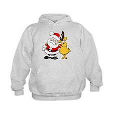 Christmas Santa Claus and Reindeer Hoodie