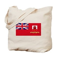 Gibraltar civil ensign Tote Bag