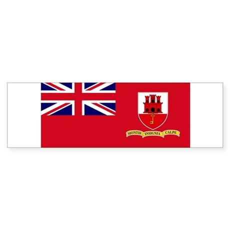 Gibraltar civil ensign Bumper Sticker