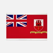 Gibraltar civil ensign Rectangle Magnet