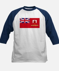Gibraltar civil ensign Kids Baseball Jersey