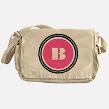 Pink B Monogram Messenger Bag
