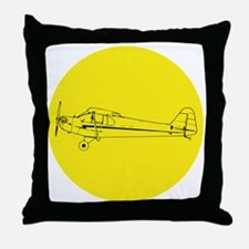 Piper J3 Cub Throw Pillow