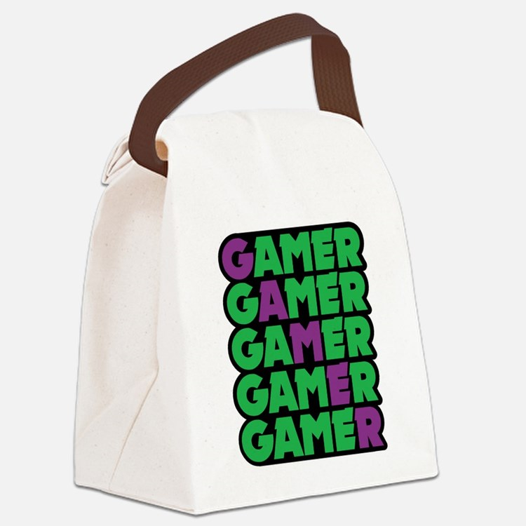 Gamer Canvas Lunch Bag