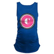 Pink C Monogram Maternity Tank Top