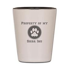 Property Of My Shiba Inu Shot Glass