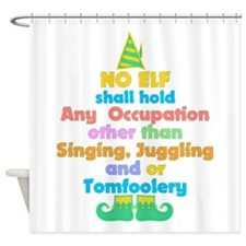 Elf Occupations Shower Curtain