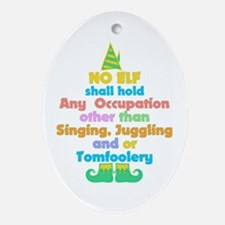 Elf Occupations Ornament (Oval)