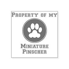 Property Of My Miniature Pinscher Sticker