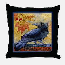 Tuscan Moon and Crow Raven Throw Pillow