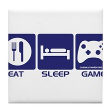 Eat Sleep Game Tile Coaster