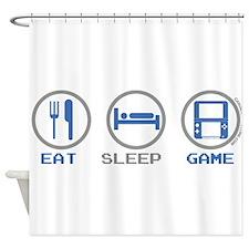 Eat Sleep Game Shower Curtain