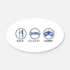 Eat Sleep Game Oval Car Magnet