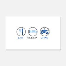 Eat Sleep Game Car Magnet 20 x 12