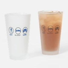 Eat Sleep Game Drinking Glass