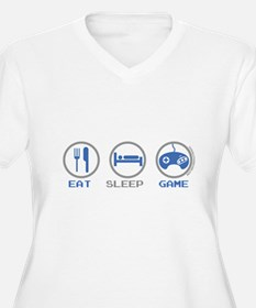 Eat Sleep Game Plus Size T-Shirt