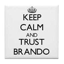 Keep calm and Trust Brando Tile Coaster
