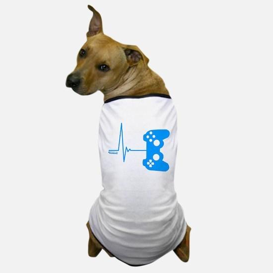 Gamer Heart Beat Dog T-Shirt