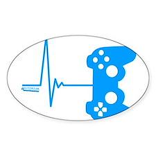 Gamer Heart Beat Bumper Stickers