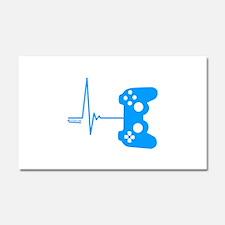 Gamer Heart Beat Car Magnet 20 x 12