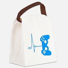 Gamer Heart Beat Canvas Lunch Bag