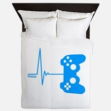 Gamer Heart Beat Queen Duvet