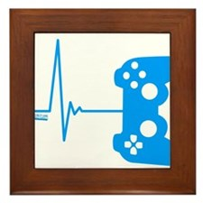 Gamer Heart Beat Framed Tile