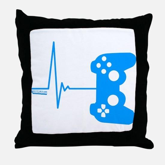 Gamer Heart Beat Throw Pillow