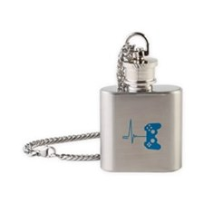 Gamer Heart Beat Flask Necklace
