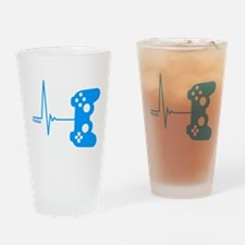 Gamer Heart Beat Drinking Glass
