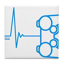 Gamer Heart Beat Tile Coaster
