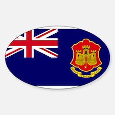 Gibraltar gov ensign Oval Decal