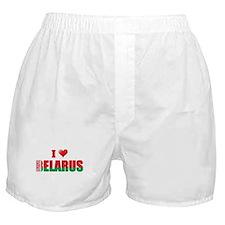 I love Belarus Boxer Shorts