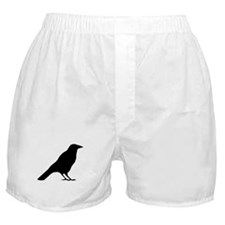 Crow Silhouette Boxer Shorts
